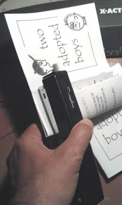 Stapling multiple page TRACTS
